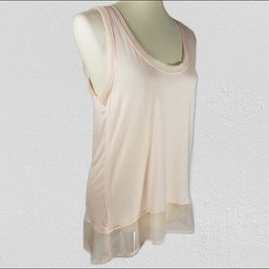 Tops - Bordeaux Pink layered sleeveless sheer top